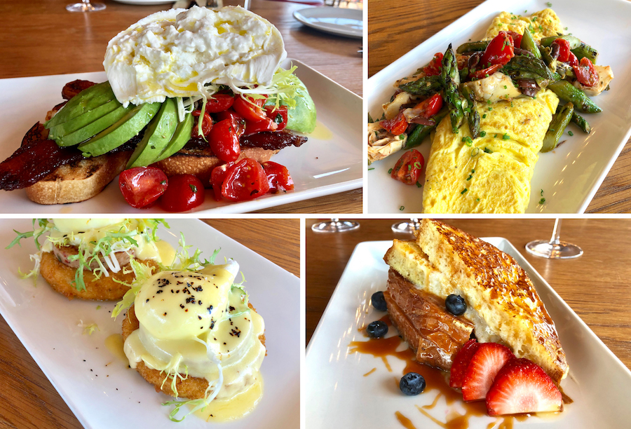 Brunch Dishes from Wine Bar George at Disney Springs