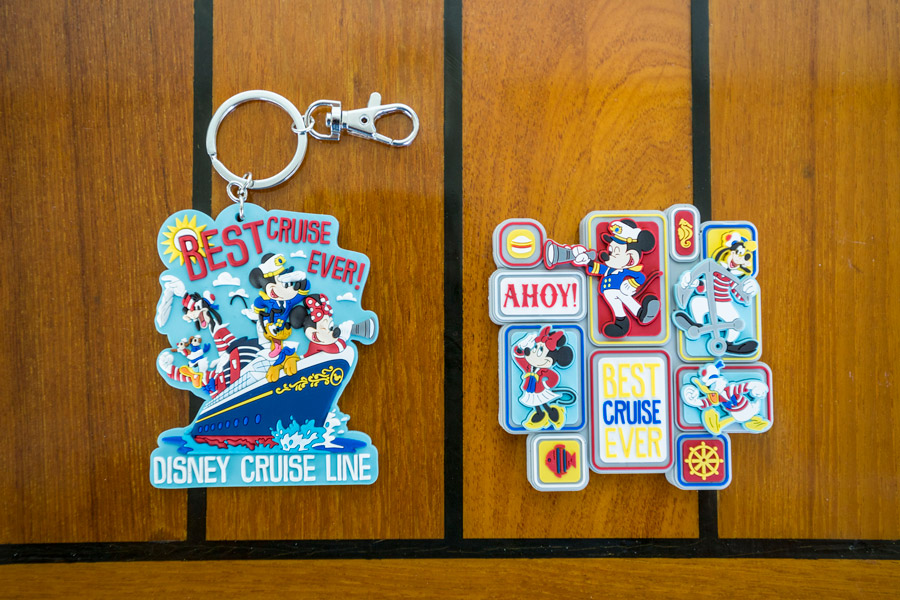 Disney Cruise Line's exclusive new Characters Ahoy collection - Keychain and Magnet