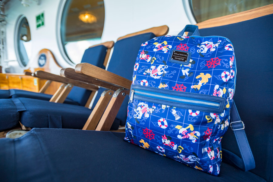 Disney Cruise Line's exclusive new Characters Ahoy collection - LoungeFly backpack
