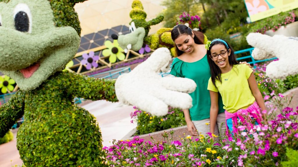Mother and Daughter at Epcot International Flower & Garden Festival