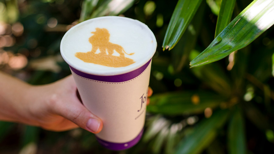 The Lion King Latte Art from Joffrey's Coffee & Tea Co. at Disney's Animal Kingdom Theme Park