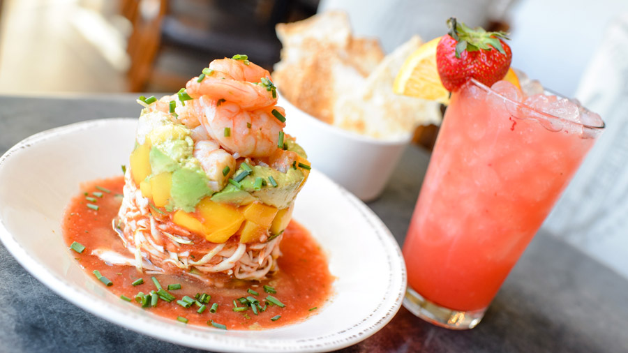 Key West Shrimp Cocktail and Blood Orange Madras from Chef Art Smith's Homecomin' for Disney Springs Flavors of Florida