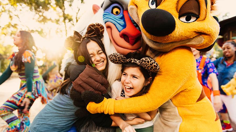 Timon and Rafiki Character Greetings during Circle of Flavors: Harambe at Night at Disney's Animal Kingdom Theme Park