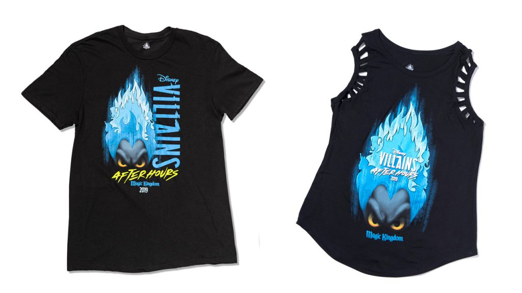 Disney Villains After Hours event exclusive merchandise - T-shirt and ladies tank