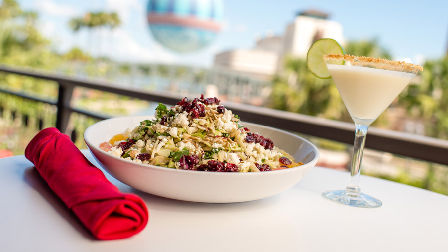 Citrus Kale Salad and Key Lime Martini from Planet Hollywood for Disney Springs Flavors of Florida