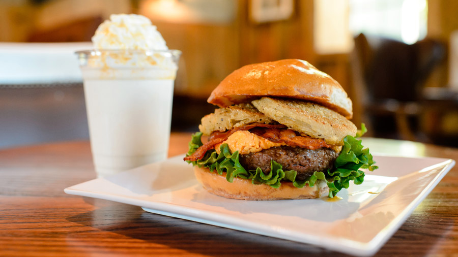 Southern Burger and Orange Crème Milkshake from D-Luxe Burger for Disney Springs Flavors of Florida
