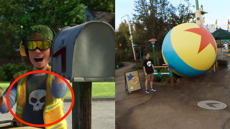 Pixar Easter Eggs Hidden in Google Street View Imagery of Toy Story Land at Disney's Hollywood Studios