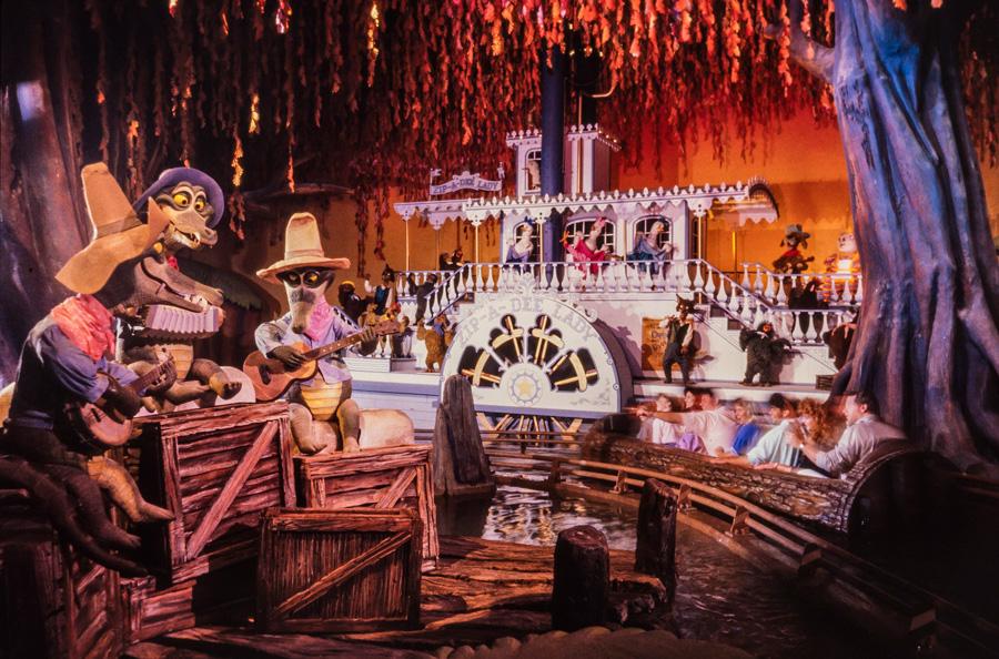 Inside Splash Mountain ride at Disneyland park
