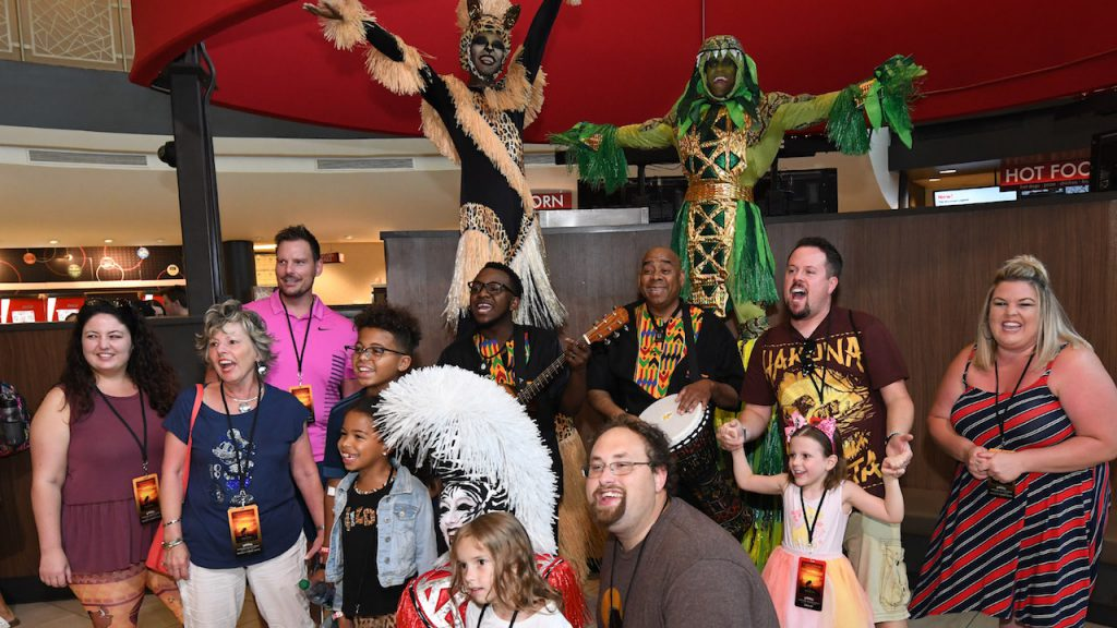 Guests at 'The Lion King' Disney Parks Blog Meet-Up at Disney Springs