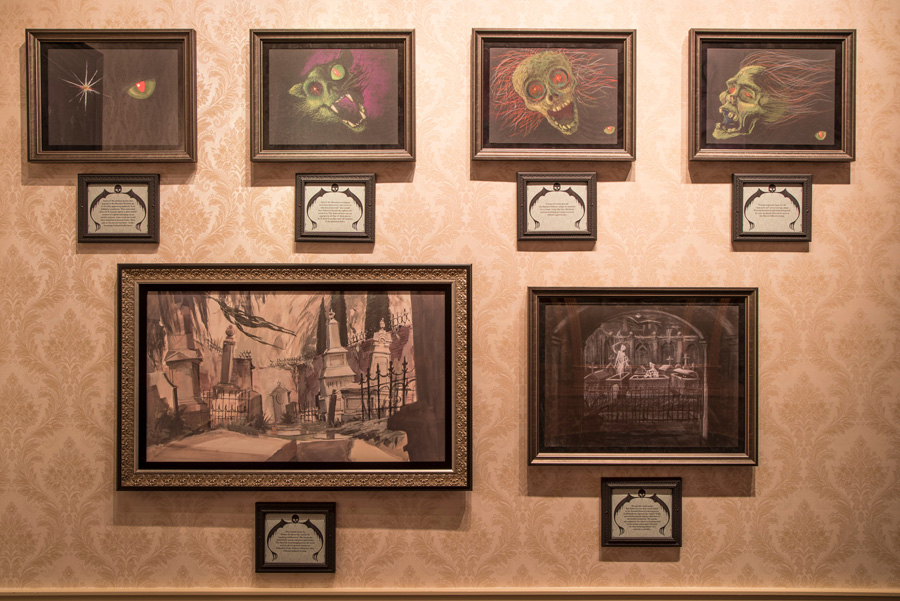 Haunted Mansion exhibit at the Disney Gallery in Disneyland park