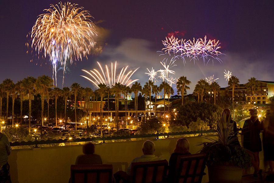 Fireworks of Disneyland park