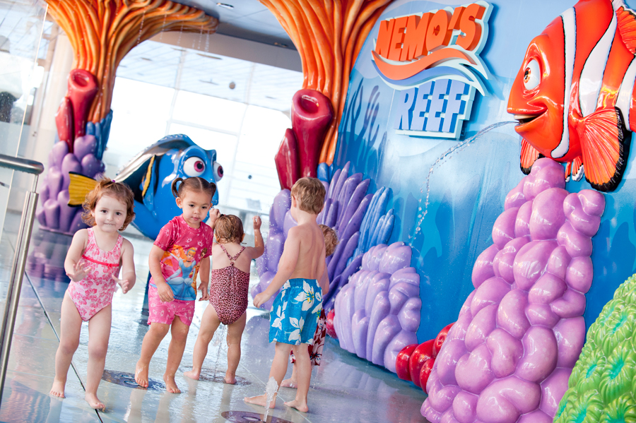 Nemo's Reef water playground aboard Disney Cruise Line