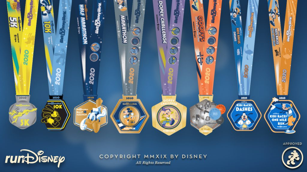 runDisney Medal Design Reveal: 2020 Walt Disney World Marathon Weekend