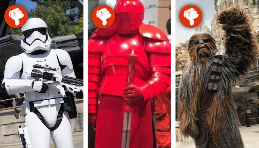 Costumes not appropriate for Star Wars: Galaxy's Edge