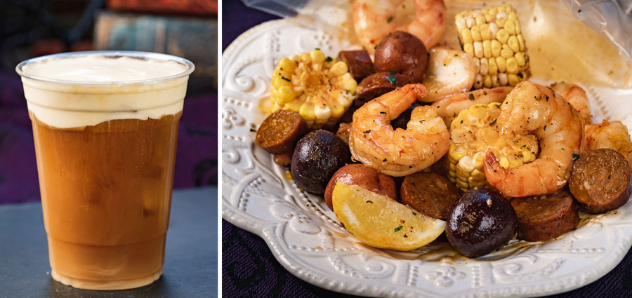 13th-Hour Brew and Ghost Mariner's Seafood Boil from Harbour Galley at Disneyland Park