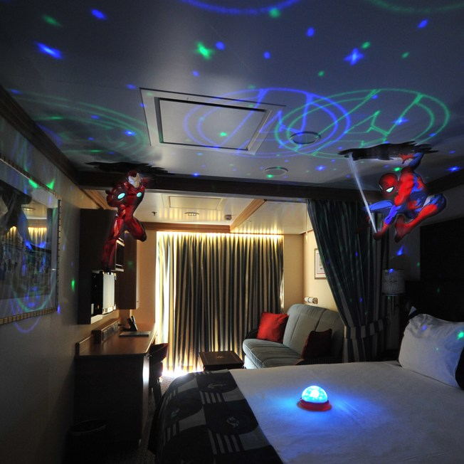 Marvel Hero Stateroom Experience from Disney Cruise Line
