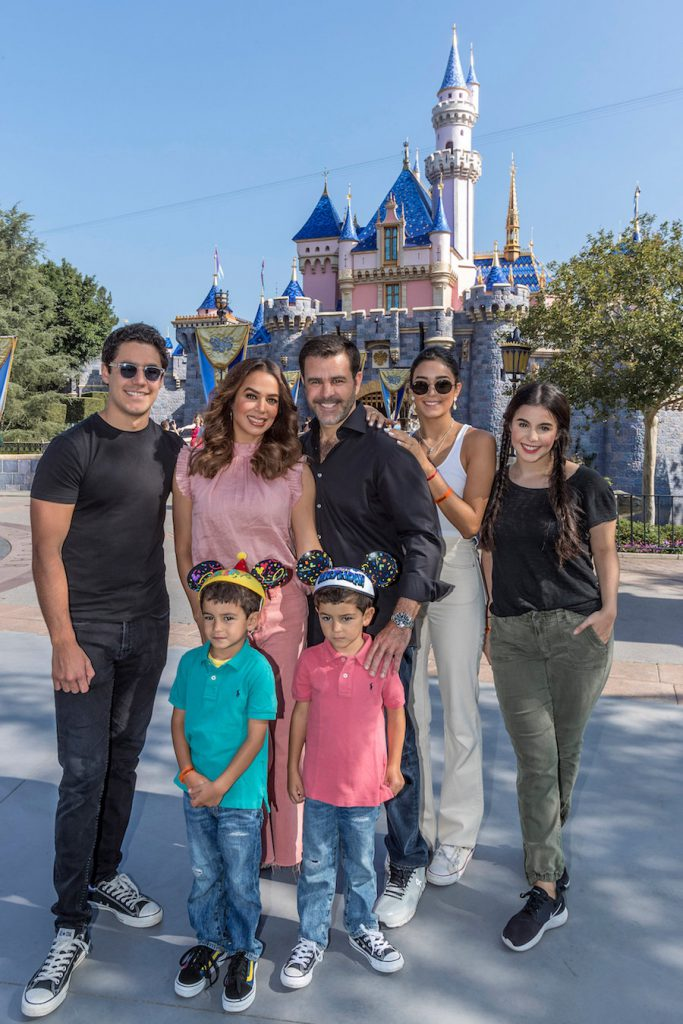 The Capetillo family at Disneyland Resort