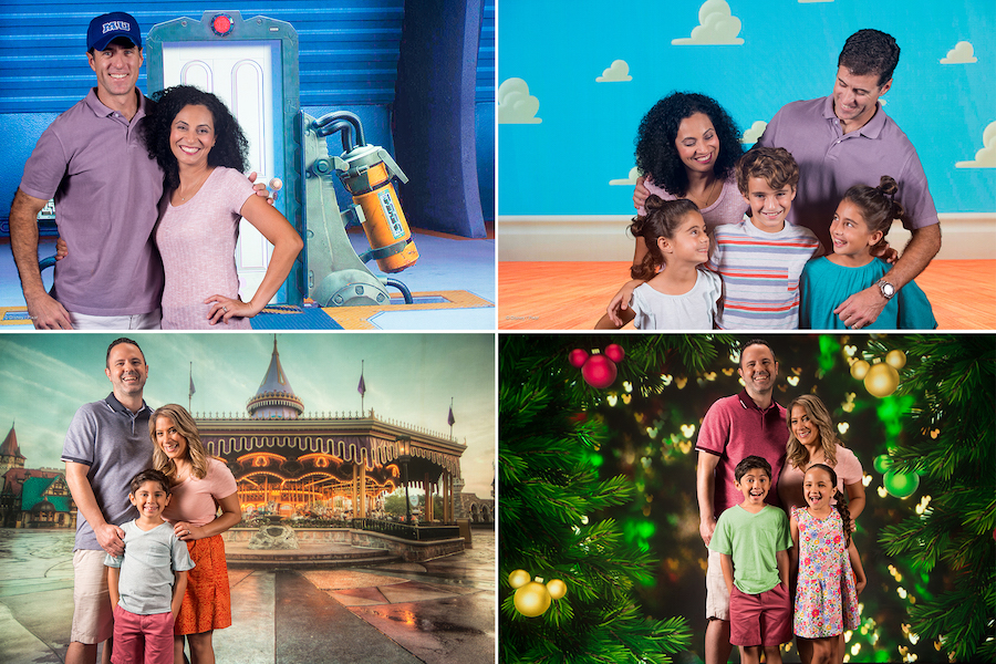 Collage of Disney PhotoPass Studio photos
