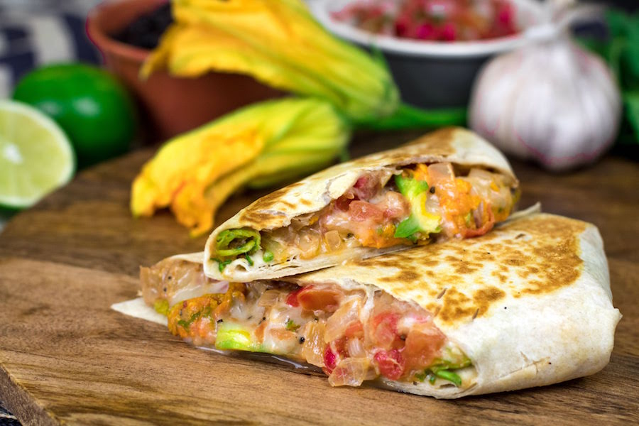 Squash Blossom Quesadilla from 4R Barbacoa Cantina Food Truck for WonderFall Flavors at Disney Springs 2019