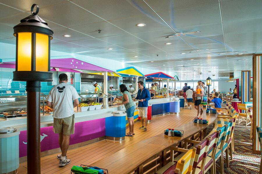Cabanas restaurant aboard the Disney Dream