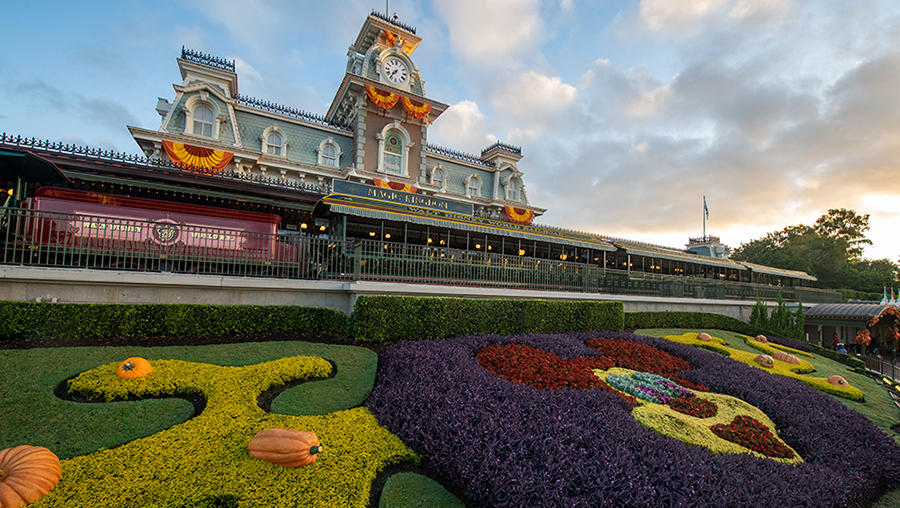 Front of the train station at Magic Kingdom Park
