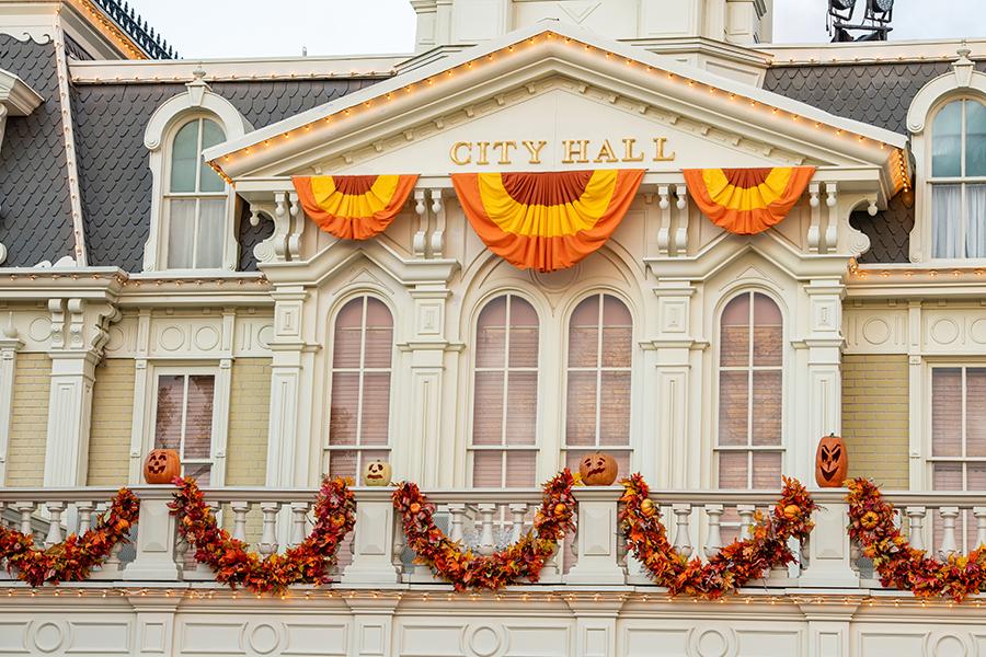 Main Street, U.S.A. Halloween Decorations at Magic Kingdom Park