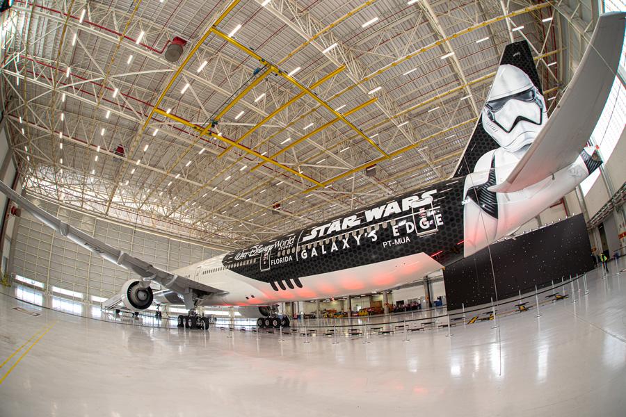 Stunning 'Stormtrooper Plane' Celebrates Star Wars: Galaxy's Edge