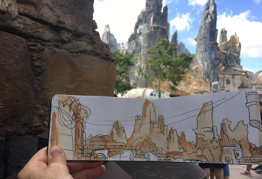 Sketches from the Park – Star Wars: Galaxy's Edge