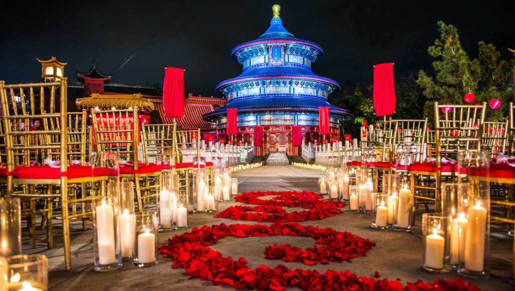 Disney Fairytale Wedding at the China Pavilion at Epcot