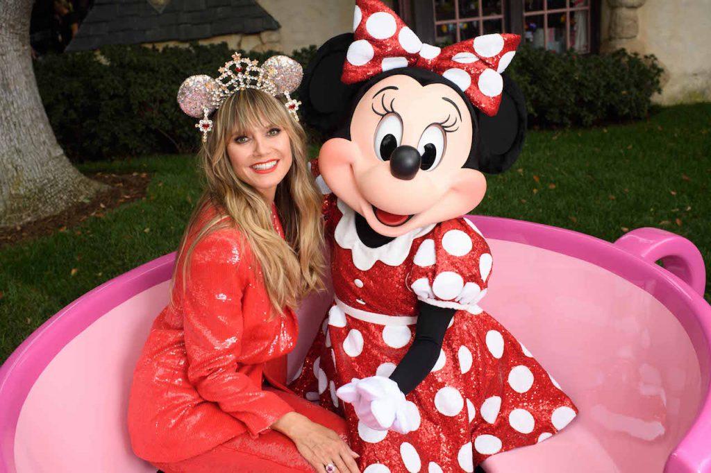 Supermodel Heidi Klum Debuts Designer Minnie Mouse Ear Headband at Disney Parks