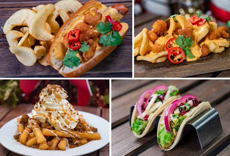 Collage of Hollywood Land Offerings for Holidays 2019 at Disney California Adventure Park