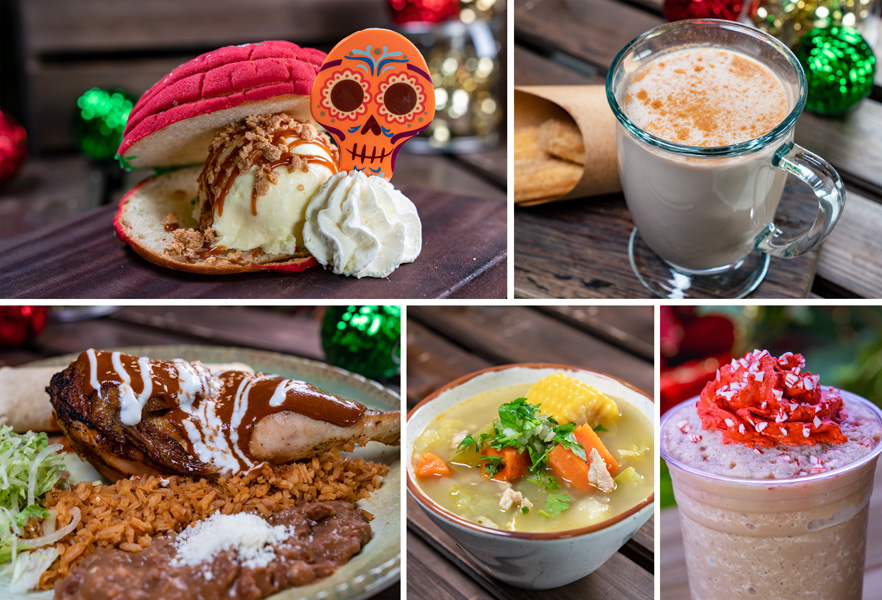 Collage of Rancho del Zocalo Offerings for Holidays 2019 at Disneyland Park