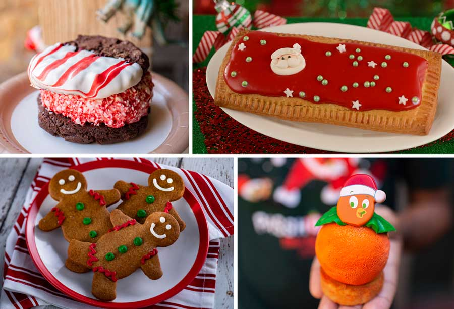 Collage of holiday treats at Walt Disney World Resort