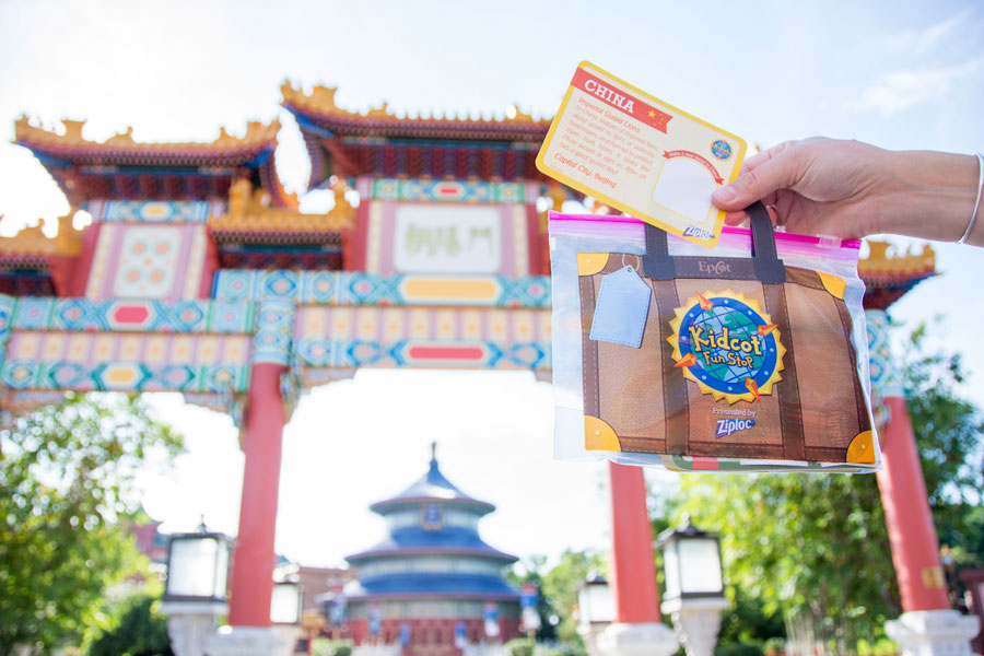 """Suitcase"" from Kidcot Fun Stops presented by Ziploc at Epcot"