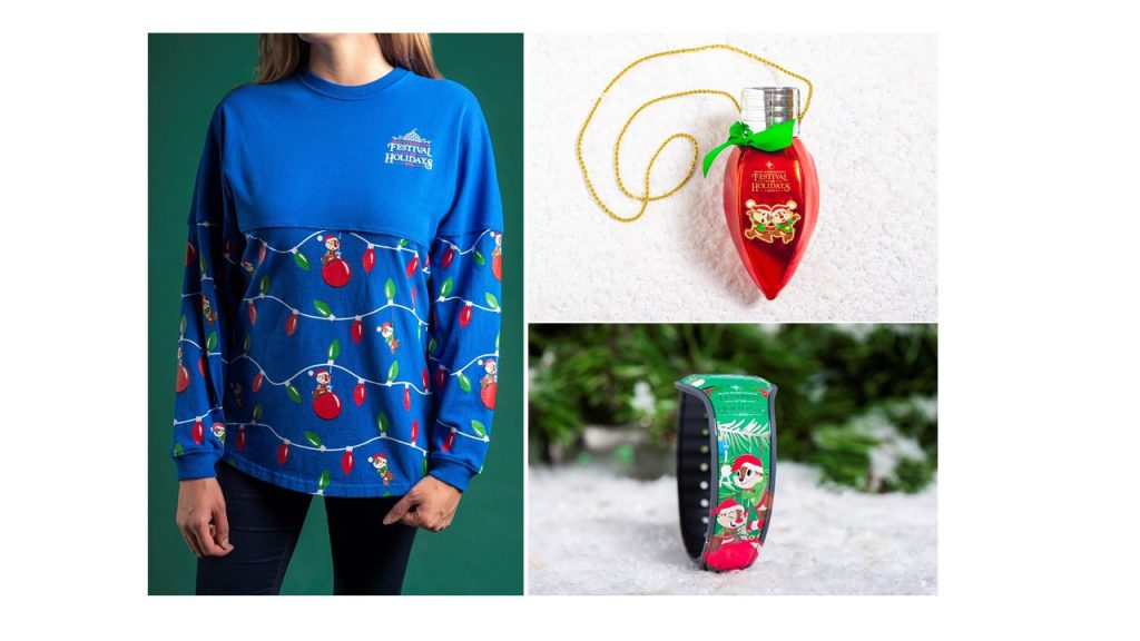 New 2019 Epcot Festival of the Holidays Merchandise Featuring Chip 'n' Dale Available on November 29