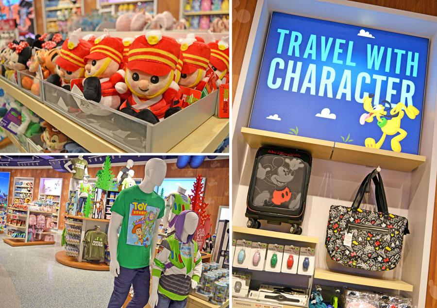 Merchandise at Magic of Disney store at Orlando International Airport