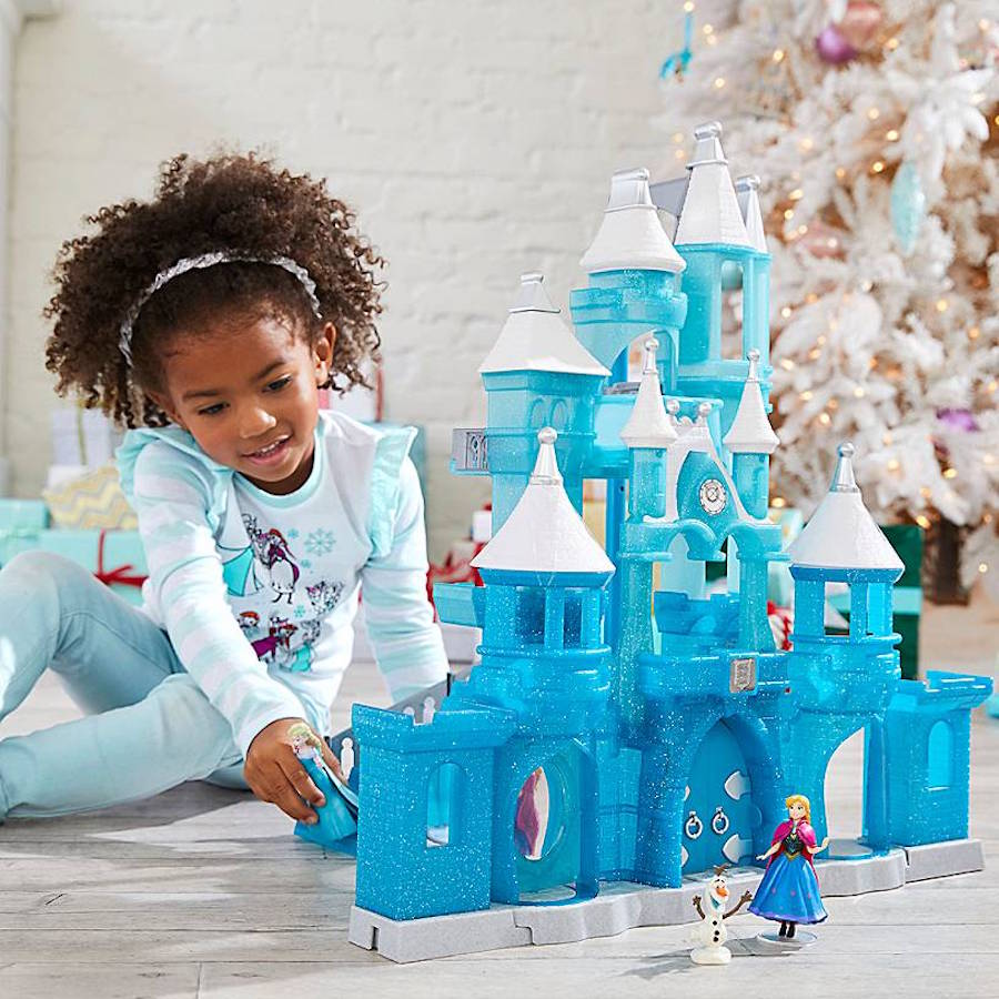 Frozen Holiday Wish Castle Playset inspired by Elsa's Ice Palace and Cinderella Castle