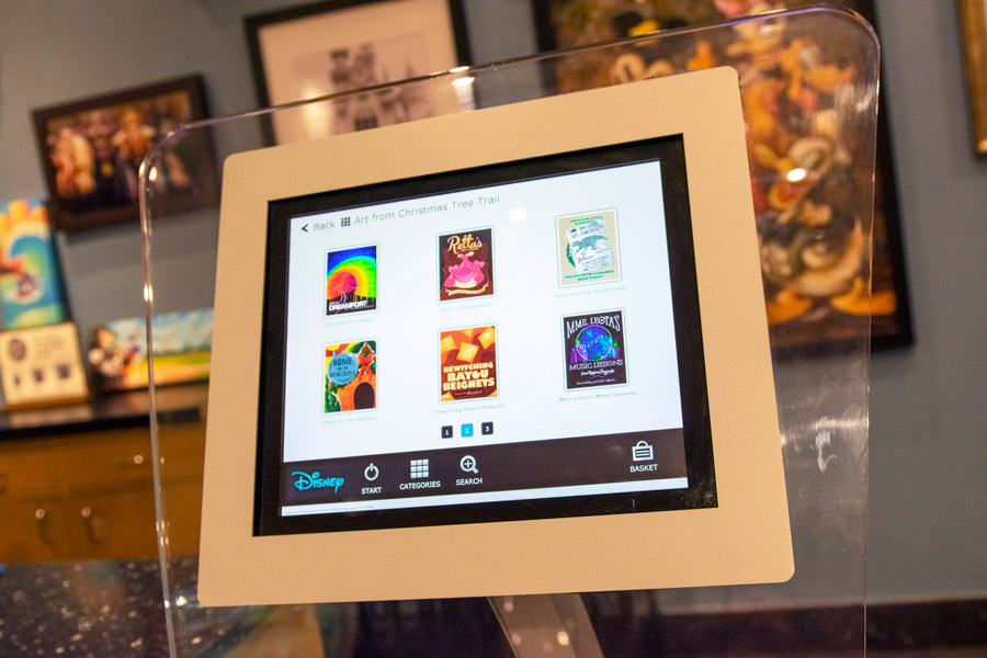 The Art of Disney Print on Demand kiosk
