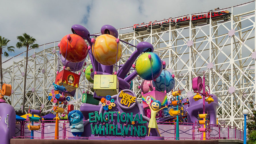 Inside Out Emotional Whirlwind at Pixar Pier