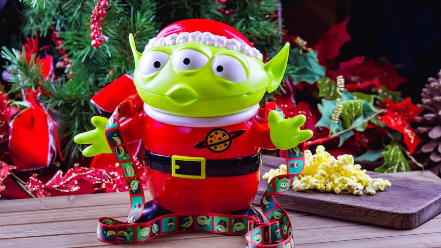 Santa Alien Premium Popcorn Bucket for Holidays 2019 at Disney's Hollywood Studios