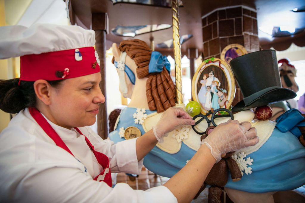 Walt Disney World Pastry Chefs Create Magnificent Works of Gingerbread Art