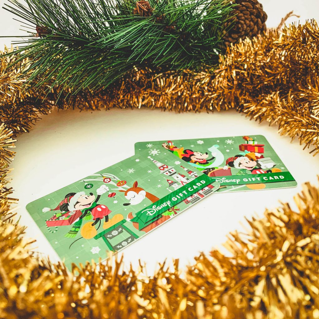 Holiday-themed Disney Gift Cards