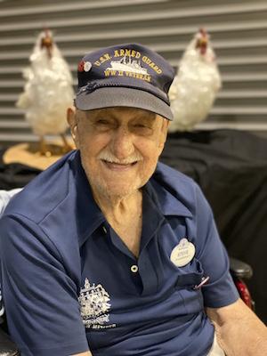 Stephen Nemeth, a World War II Navy Seaman First-Class, at Epcot