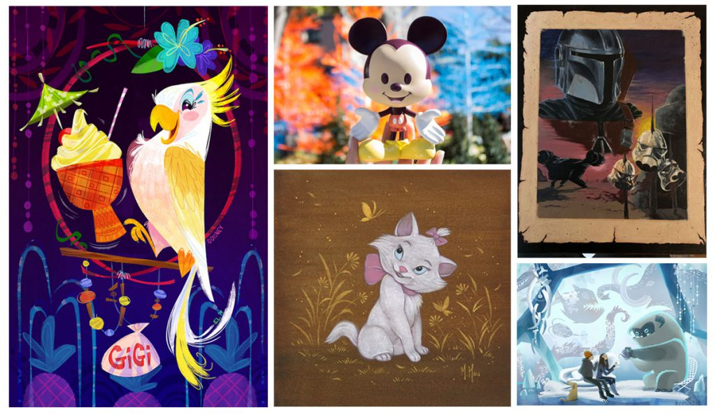 Artful Gifts and Gifted Artists in WonderGround Gallery in Downtown Disney District at Disneyland Resort