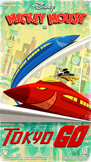 New 'Tokyo Go' Poster Unveiled in Countdown Series to March 4 Opening of Mickey & Minnie's Runaway Railway