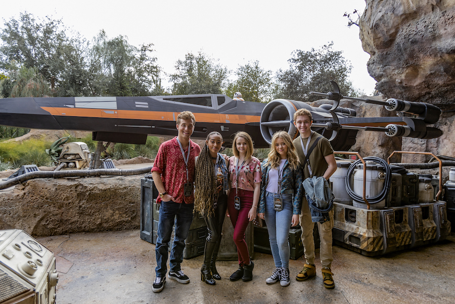 The Cast of Hulu's 'Little Fires Everywhere' and 'Dollface' Join the Resistance at Star Wars: Galaxy's Edge at Disneyland Park for a Day