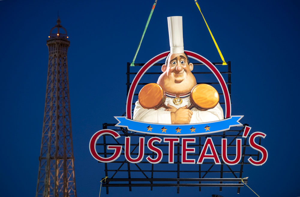 First Look! New Sign for Gusteau's Restaurant, Just Installed in the France Pavilion at Epcot
