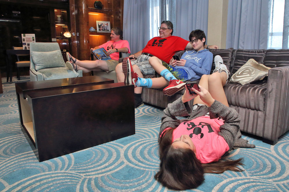 Family at the Roy O. Disney Suite