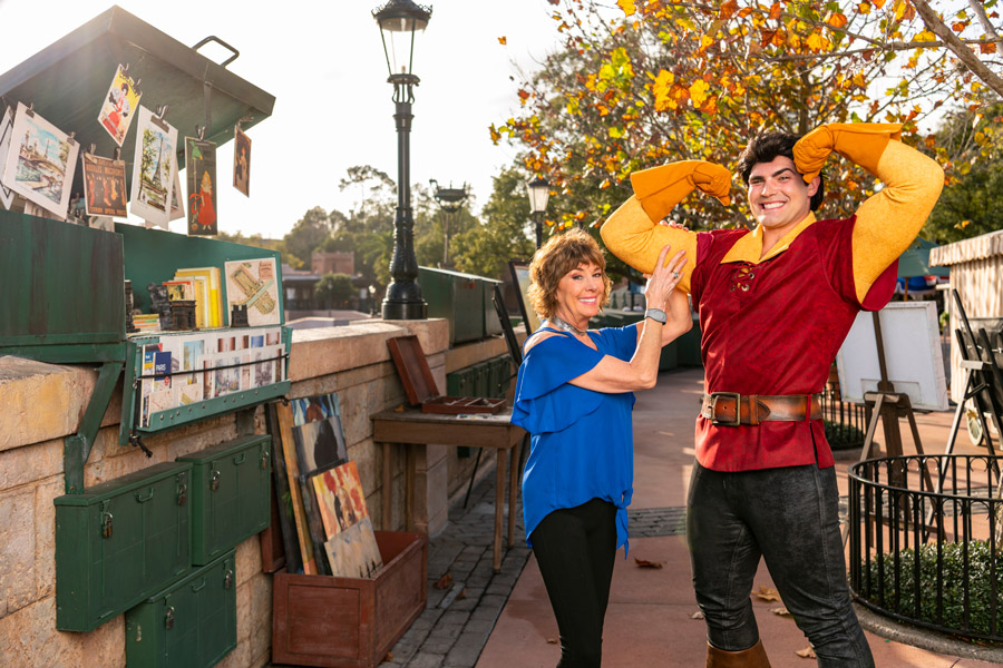 'Beauty & The Beast' Paige O'Hara Paints Gaston at the Epcot International Festival of the Arts