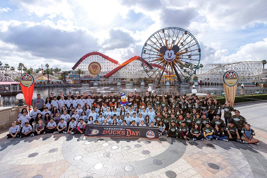 Disney and Anaheim Ducks Fans United at Anaheim Ducks Day at Disney California Adventure Park